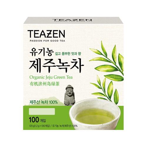 티젠 유기농 제주 녹차, 1.2g, 100개입