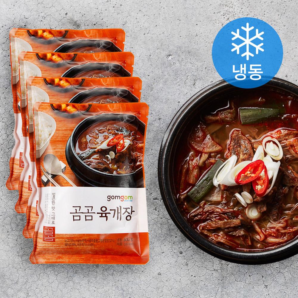 곰곰 육개장 (냉동), 600g, 4개