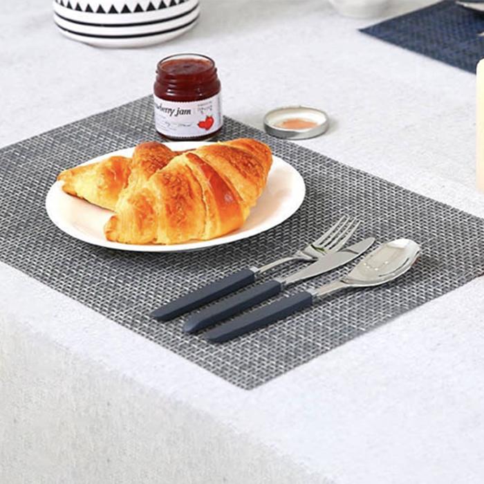 까사마루 다용도 테이블 매트 프리미엄 라인 4p, 그레이, 45 x 30 cm