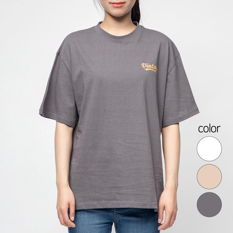 캐럿 남녀공용 그래픽 반팔 티셔츠 빈티지
