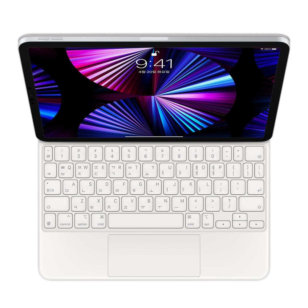Apple 정품 매직 키보드 iPad Pro 11 3세대 iPad Air 4세대, 화이트, 한국어
