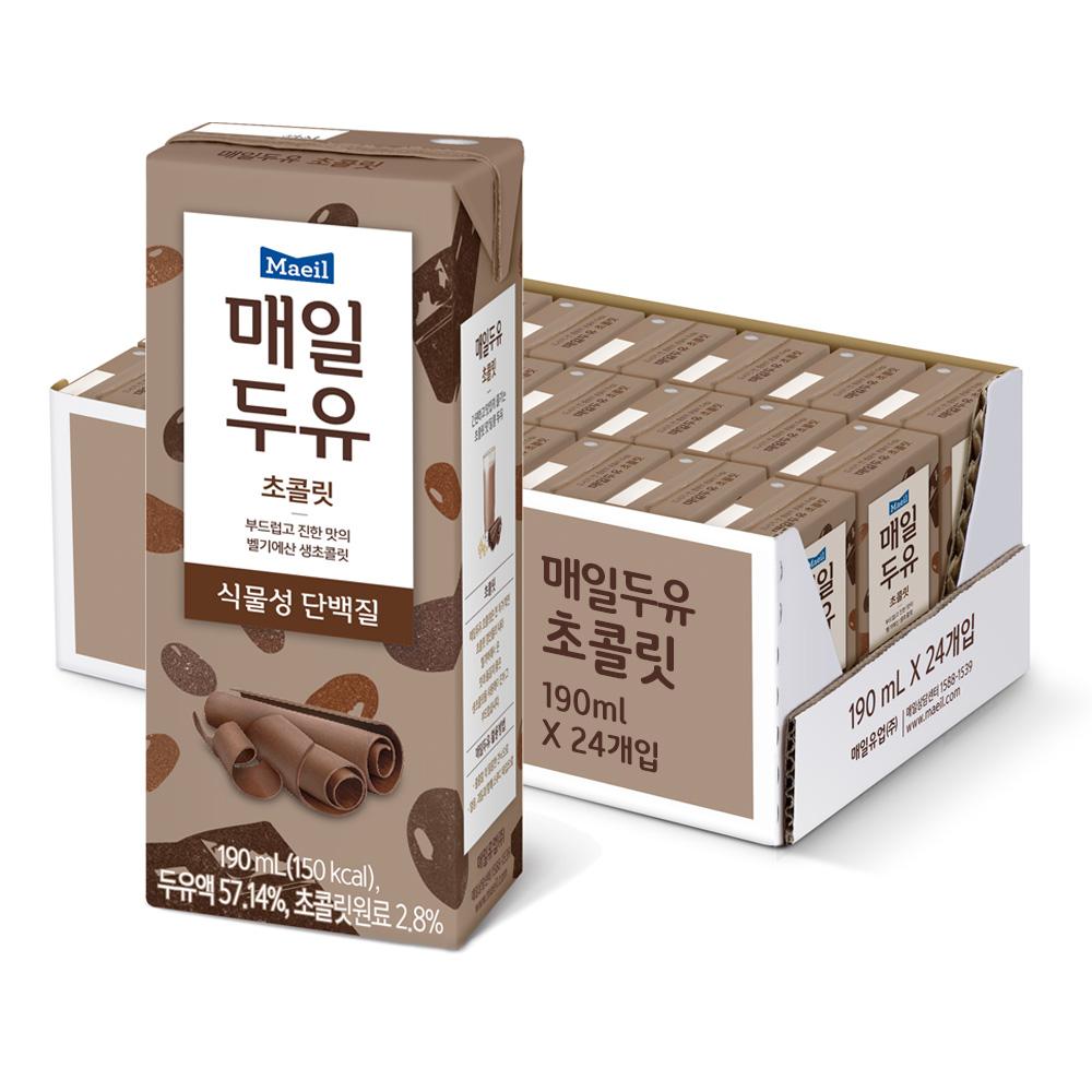 매일유업 매일두유 초콜릿, 190ml, 24개