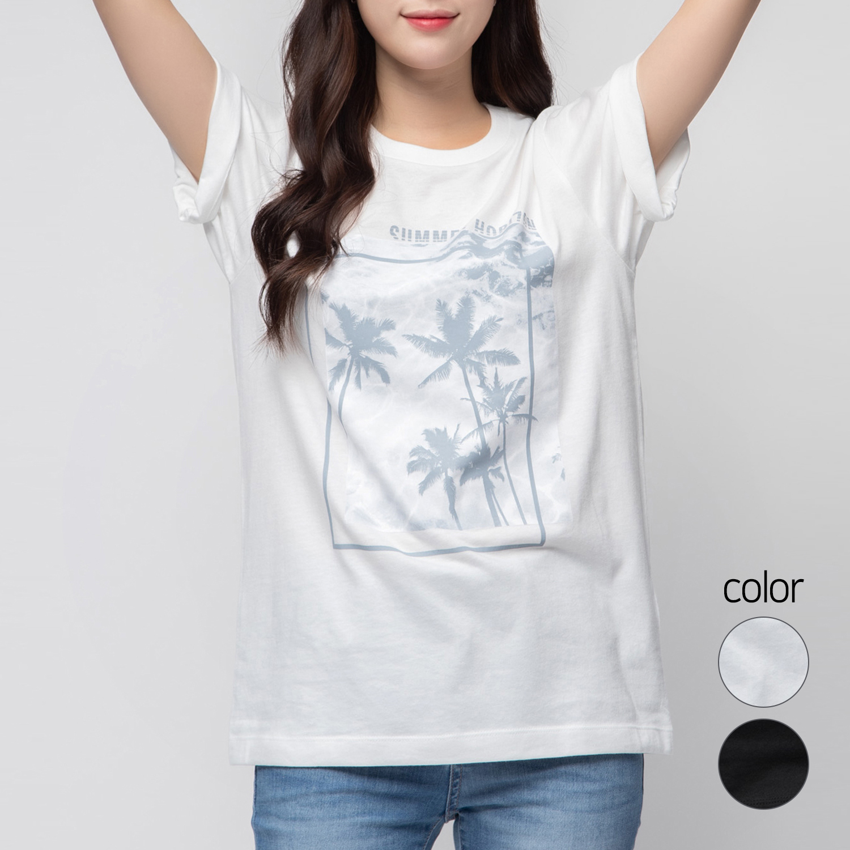 캐럿 남녀공용 레귤러 핏 그래픽 티셔츠 MJ01AA