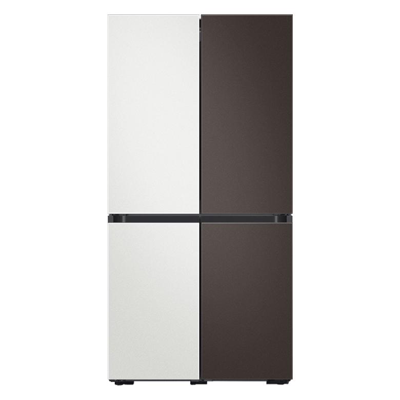 삼성전자 비스포크 4도어 냉장고 RF85T9141AP 9 870L 방문설치, 코타 화이트, 코타 차콜, 코타 화이트, 코타 차콜