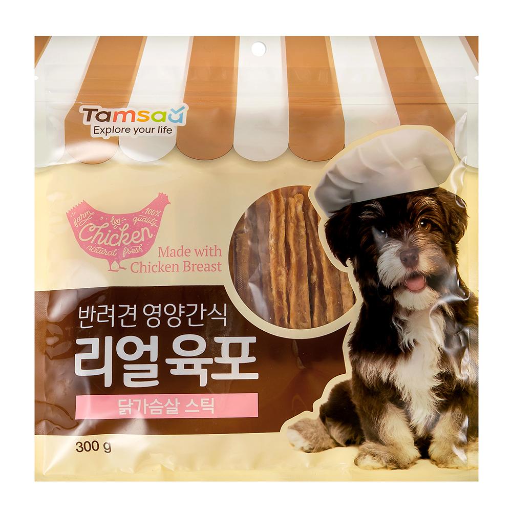 탐사 리얼육포 강아지 간식, 닭가슴살, 1개