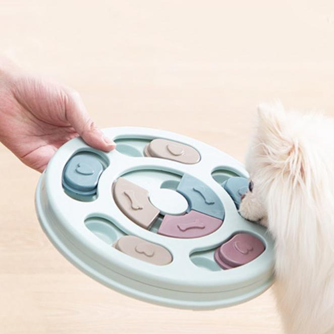 놀자리빙 강아지 노즈워크 먹이퍼즐 원형 24cm, 1개