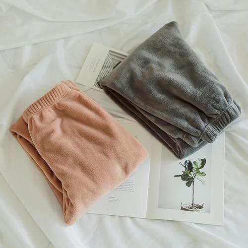 글램공감 여성용 포그니 융털 수면바지 2종 세트