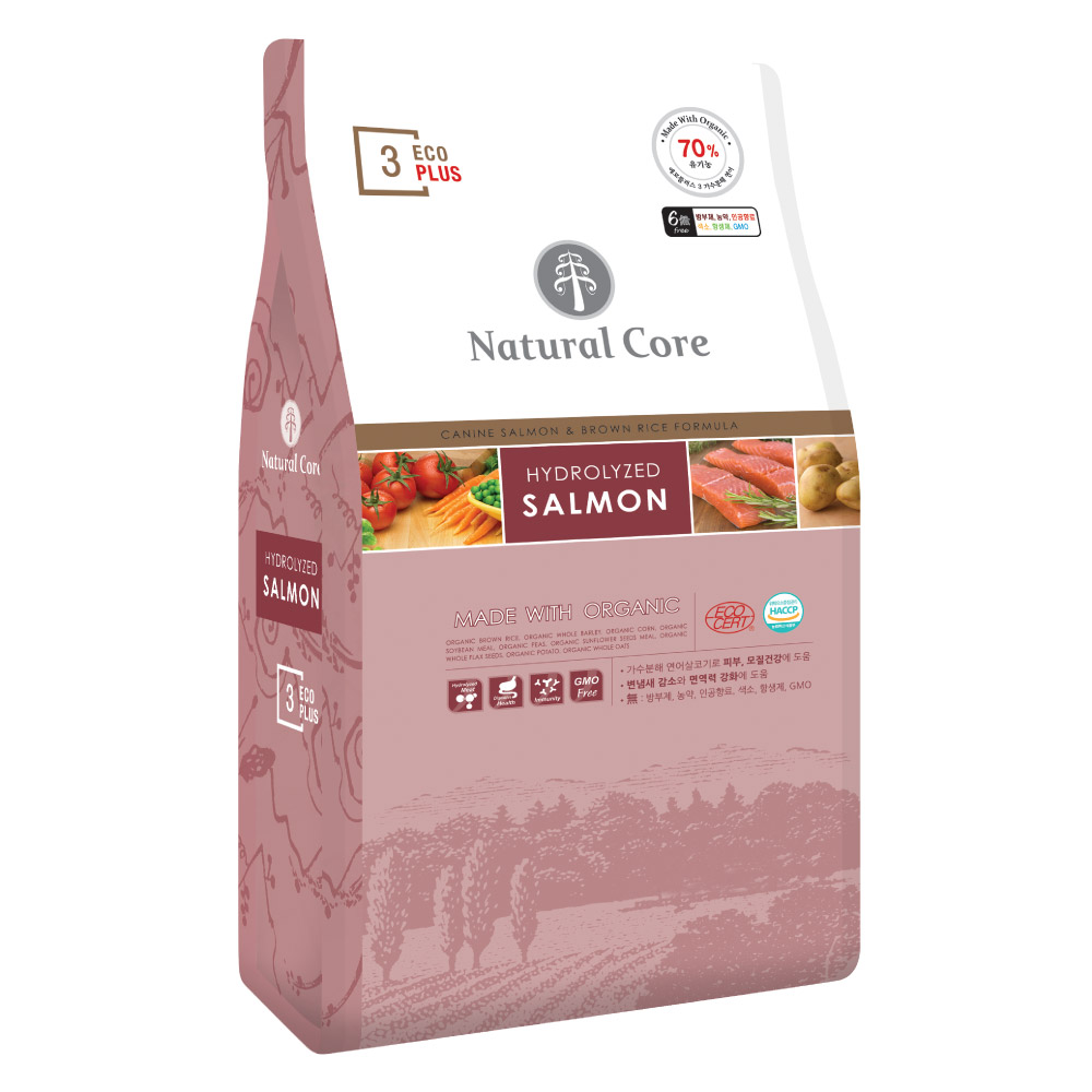 네츄럴코어 전연령 에코플러스3 유기농 건식사료, 생선, 2kg