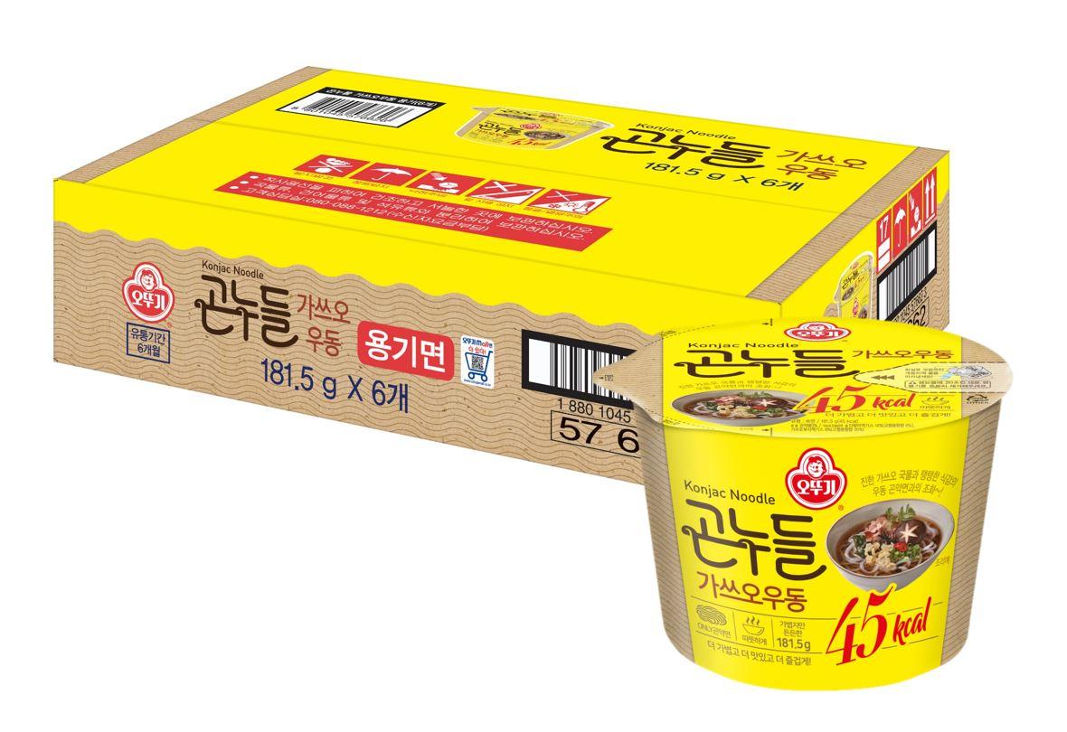 오뚜기 곤누들 가쓰오 우동, 181.5g, 6개