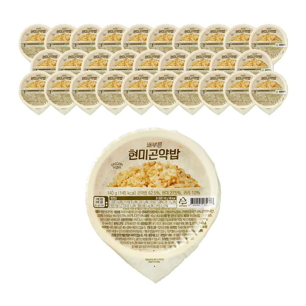 그로서리서울 배부른 현미곤약밥, 140g, 32개-18-2153922911