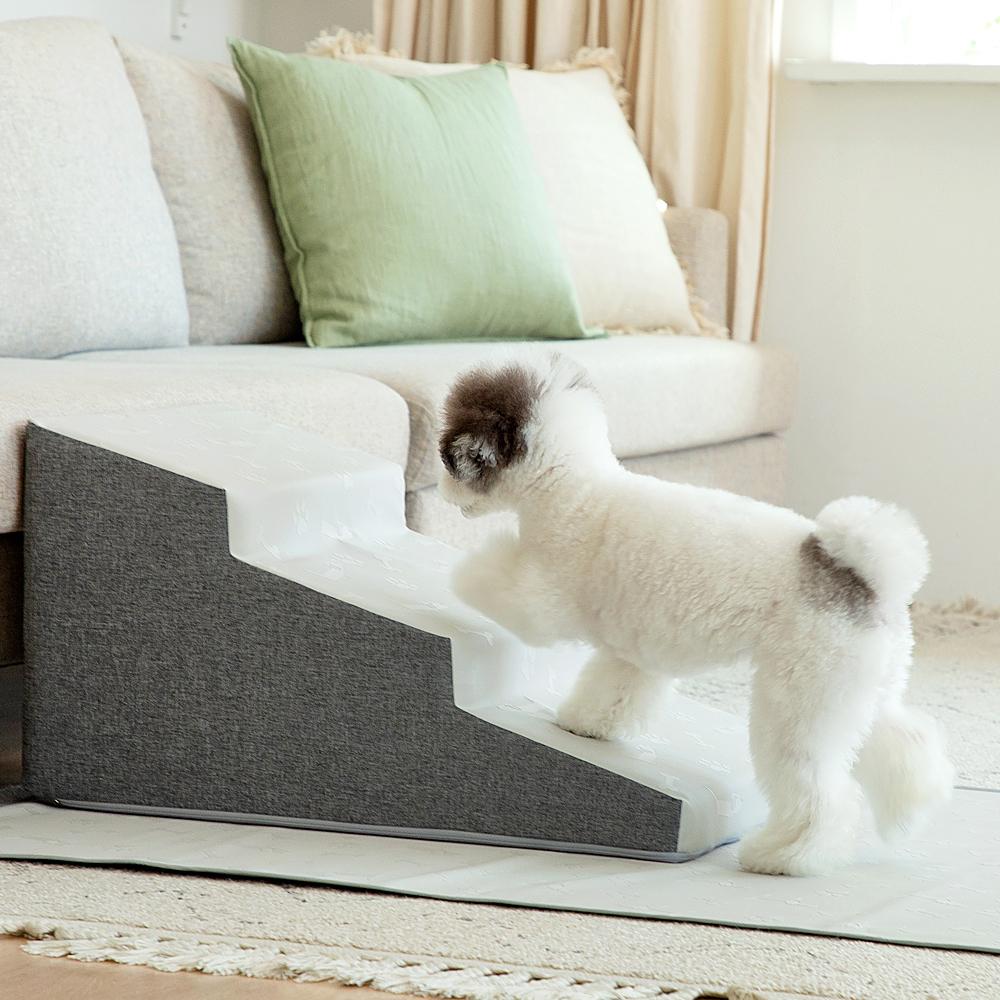 더플래 디딤 논슬립 강아지 계단, 그레이