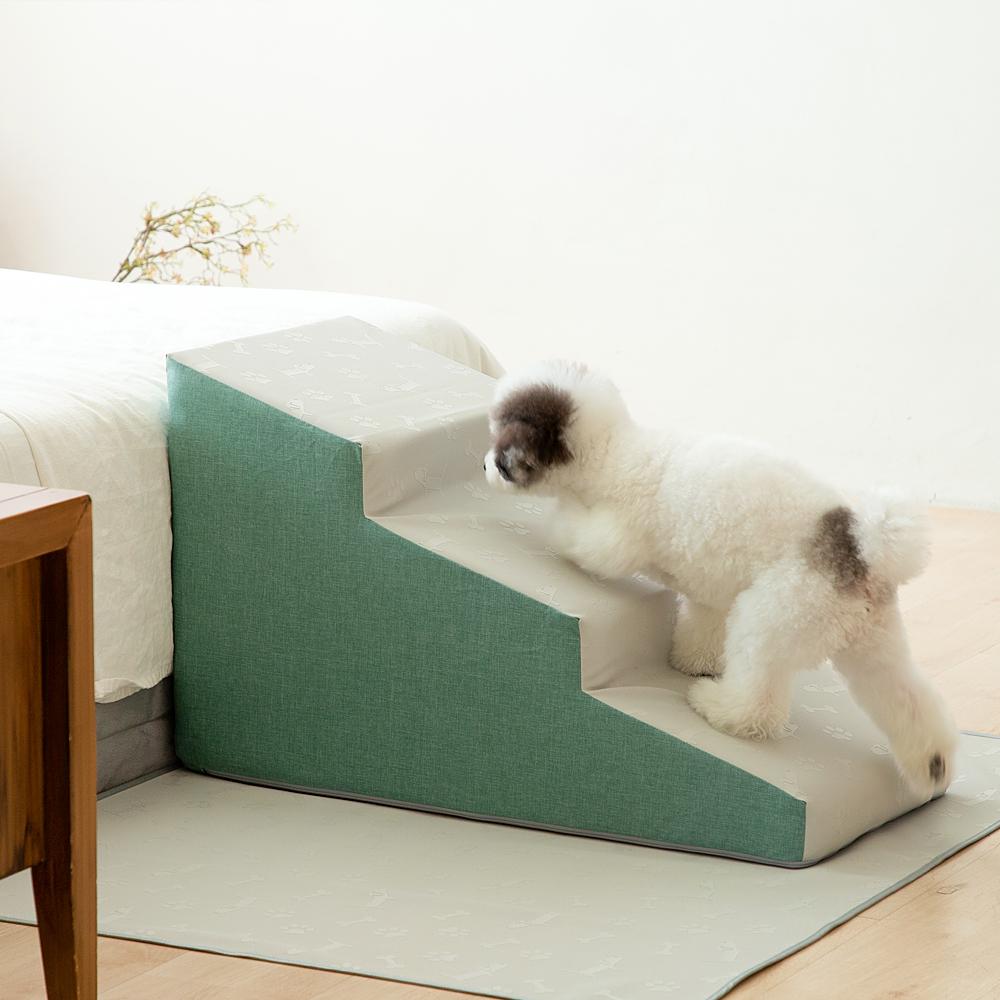 더플래 디딤 논슬립 강아지 계단, 에버그린