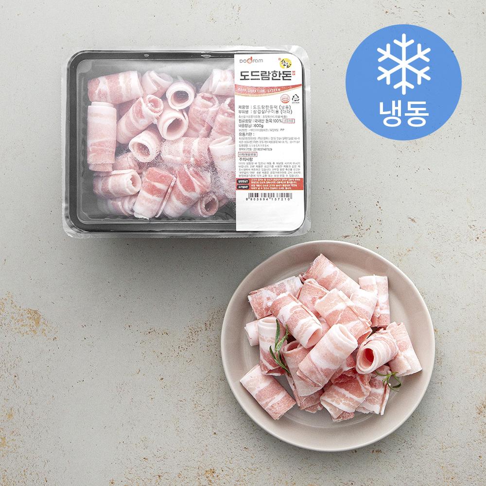 도드람한돈 삼겹살 구이용 대패 (냉동), 600g, 1개