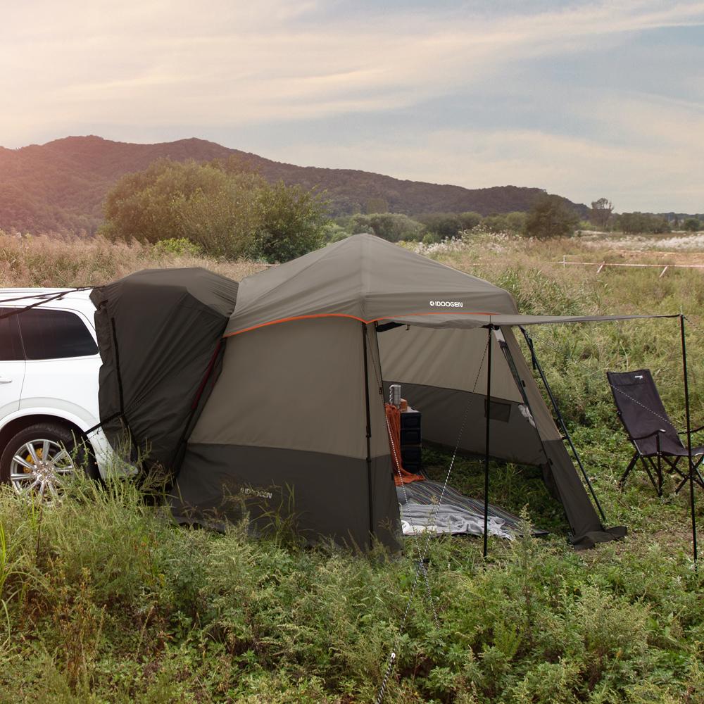 아이두젠 A10 자립형 오토 차박 텐트, 카키브라운, 5인용