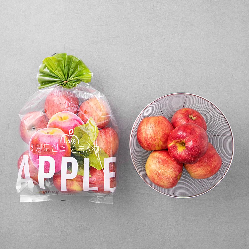 곰곰 당도선별 안동 사과, 1.5kg, 1개