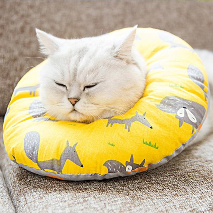 멍지 강아지 고양이 넥카라 노란 숲의 여우 S, 57g, 1개
