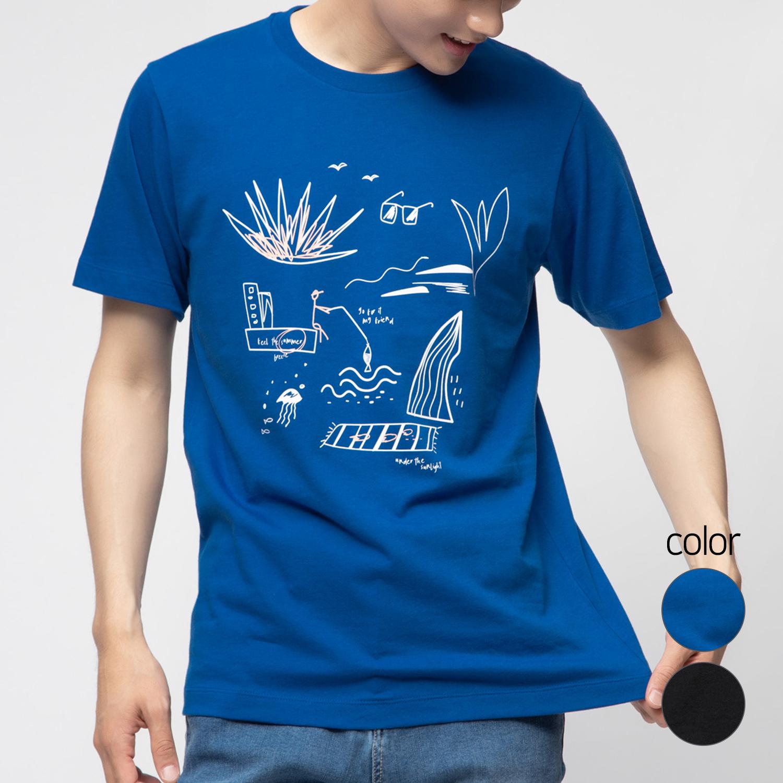 캐럿 남녀공용 레귤러 핏 그래픽 티셔츠 MJ03AA