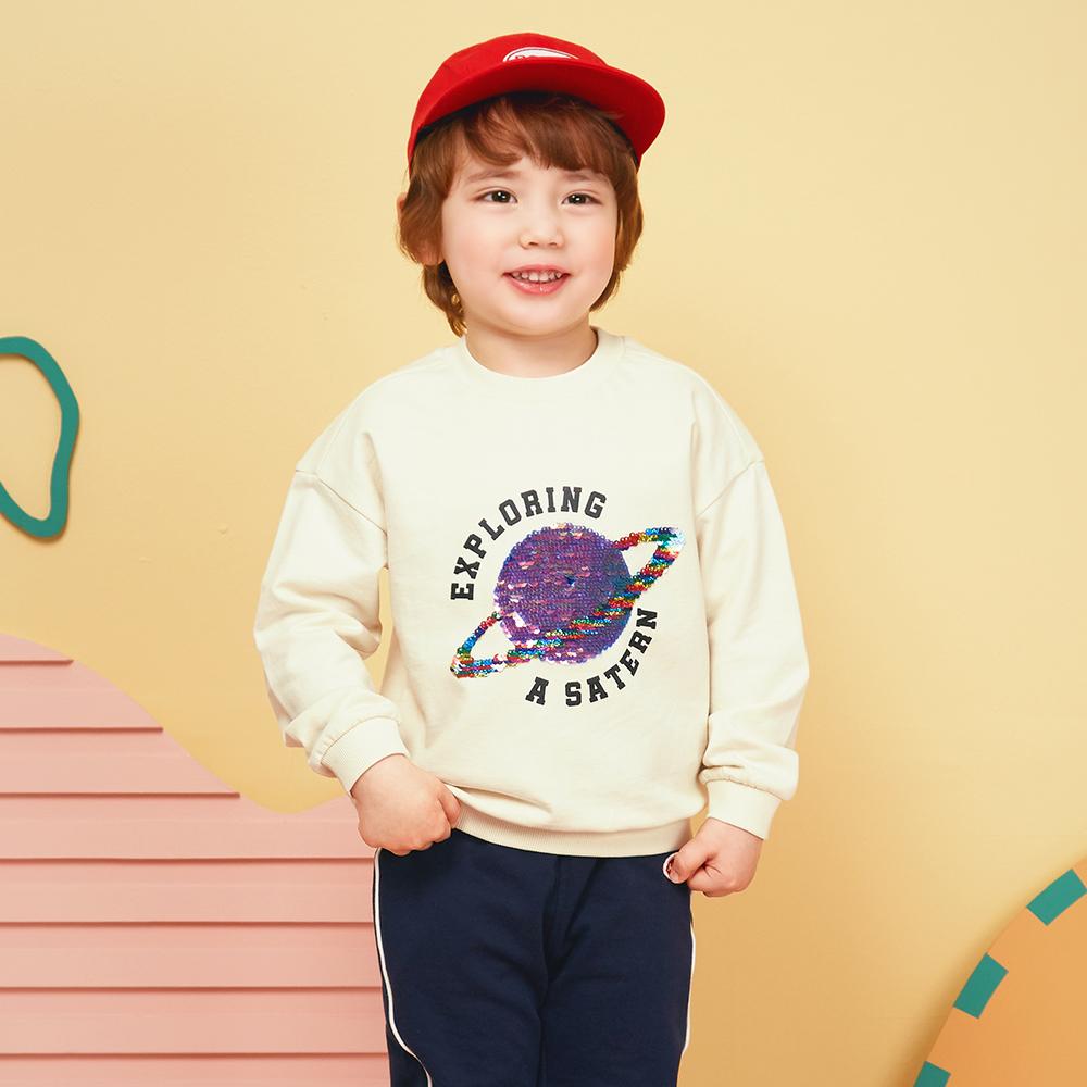 마리앤모리 아동용 새턴 스팽글 티셔츠