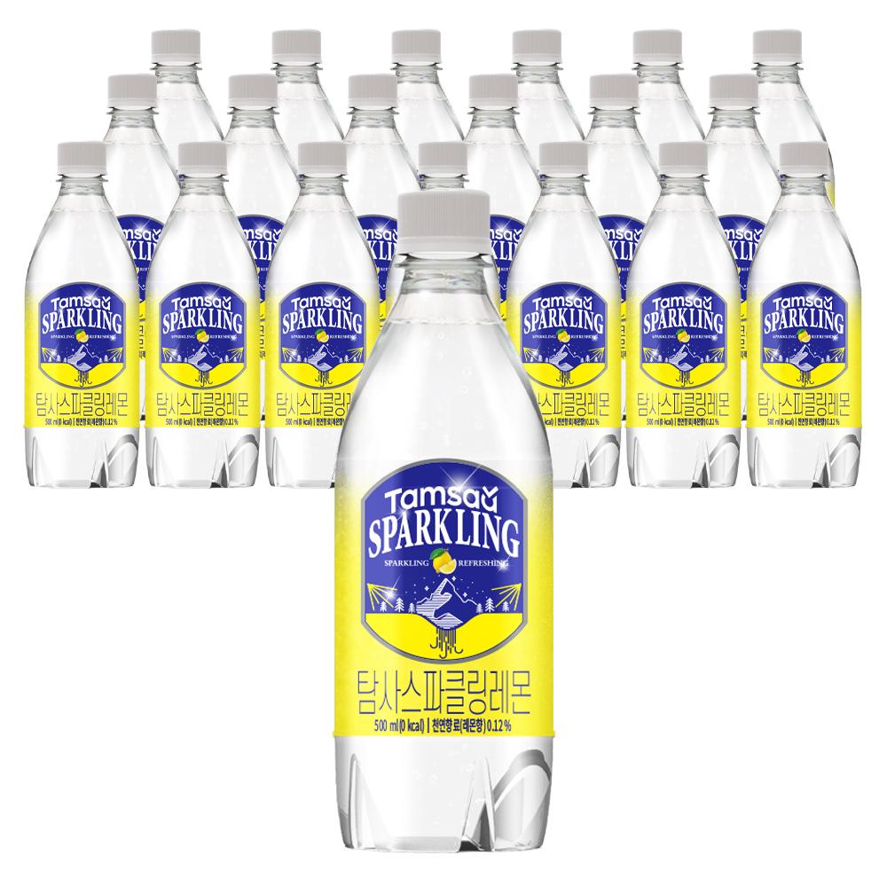 탐사 시그니처 스파클링 레몬 탄산음료, 500ml, 20개