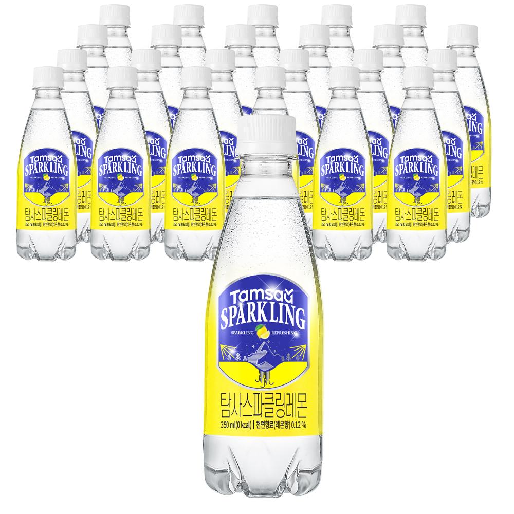 탐사 시그니처 스파클링 레몬 탄산음료, 350ml, 24개입