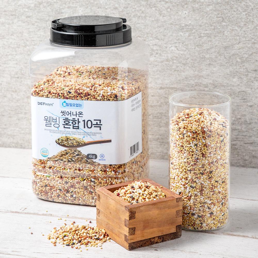 대구농산 씻어나온 웰빙 혼합 10곡, 4kg, 1통