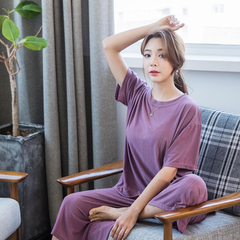 도씨 여성용 냉감 반팔 잠옷세트