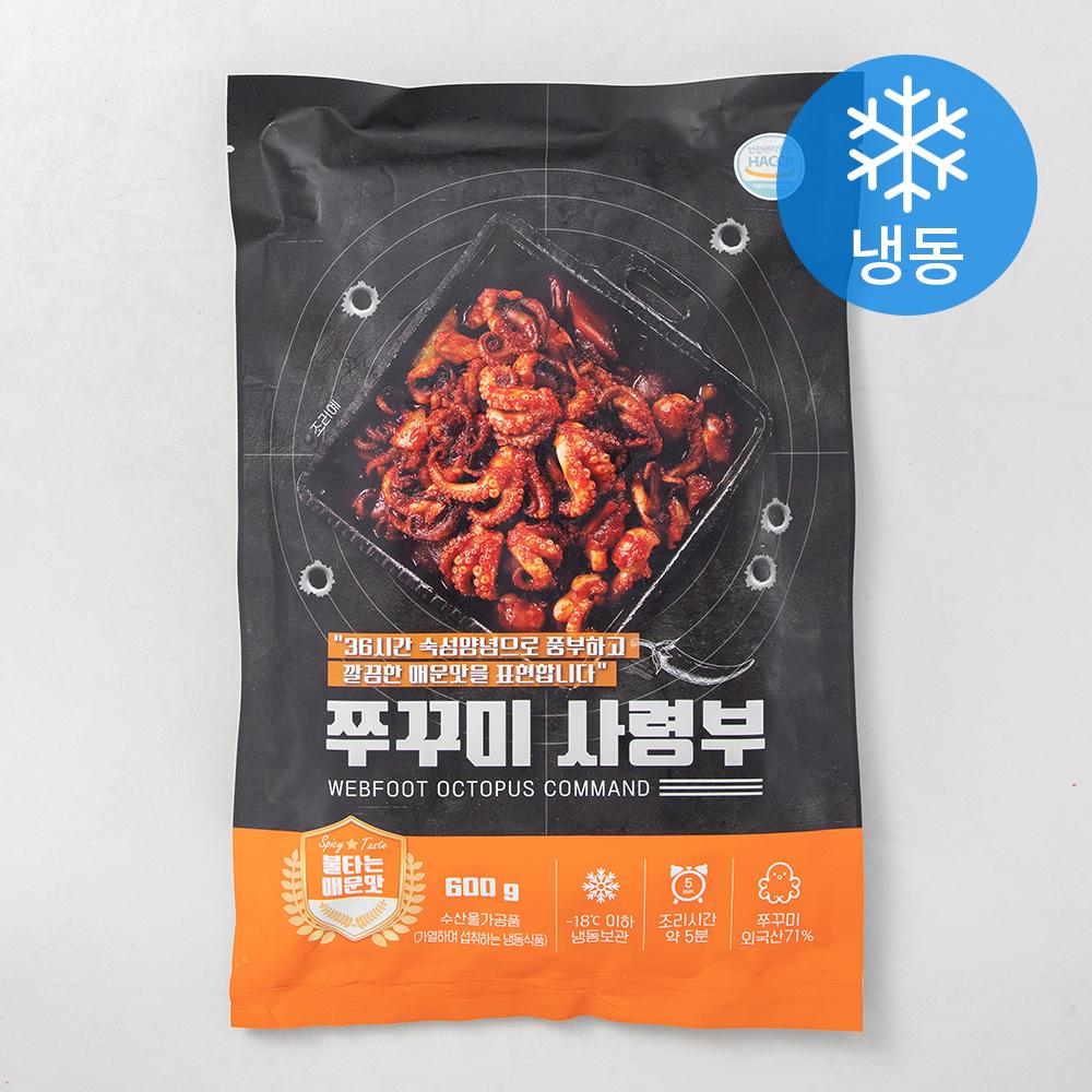 쭈꾸미 사령부 불타는 매운맛 (냉동), 600g, 1개