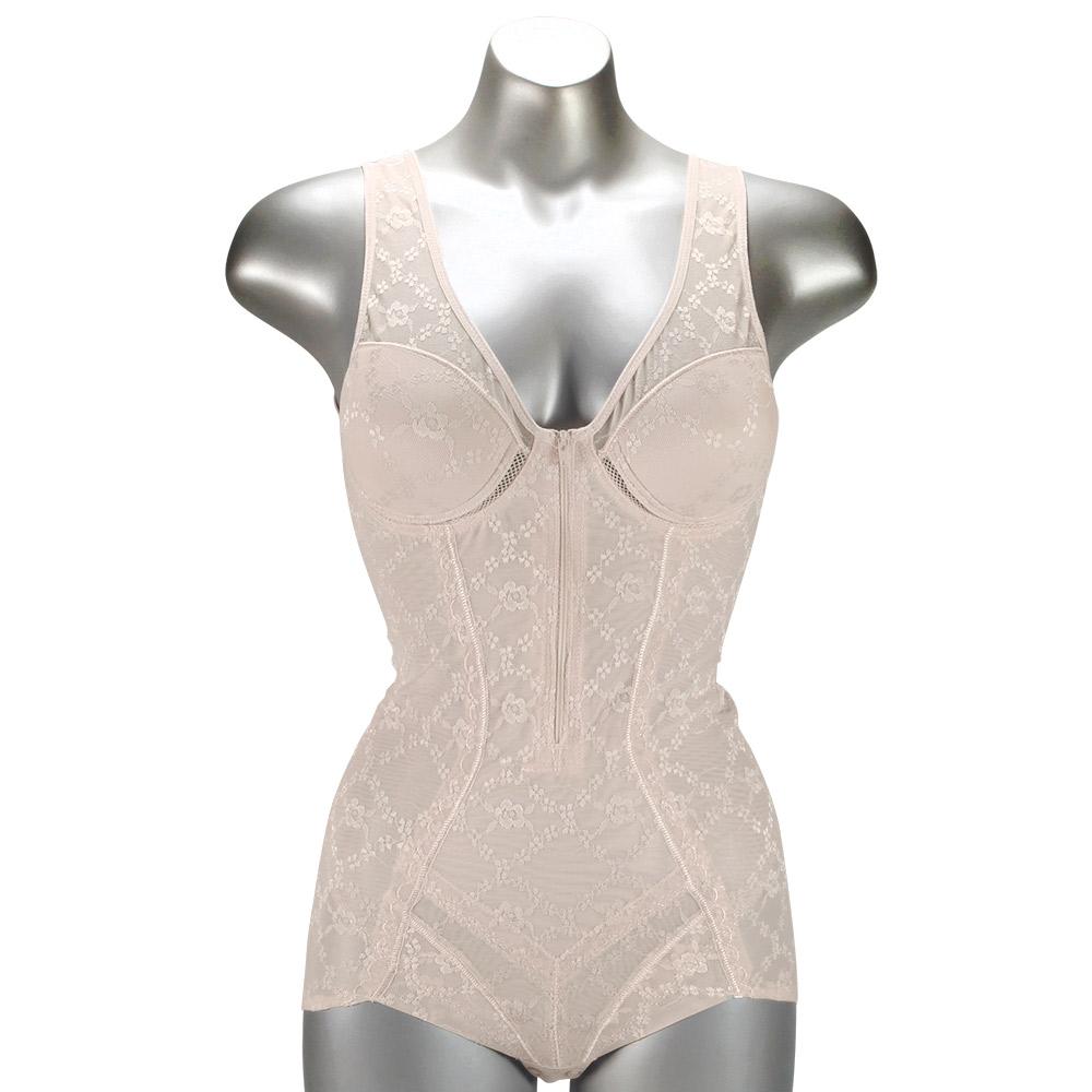 여성 보정속옷 지퍼 몰드형 올인원 7411