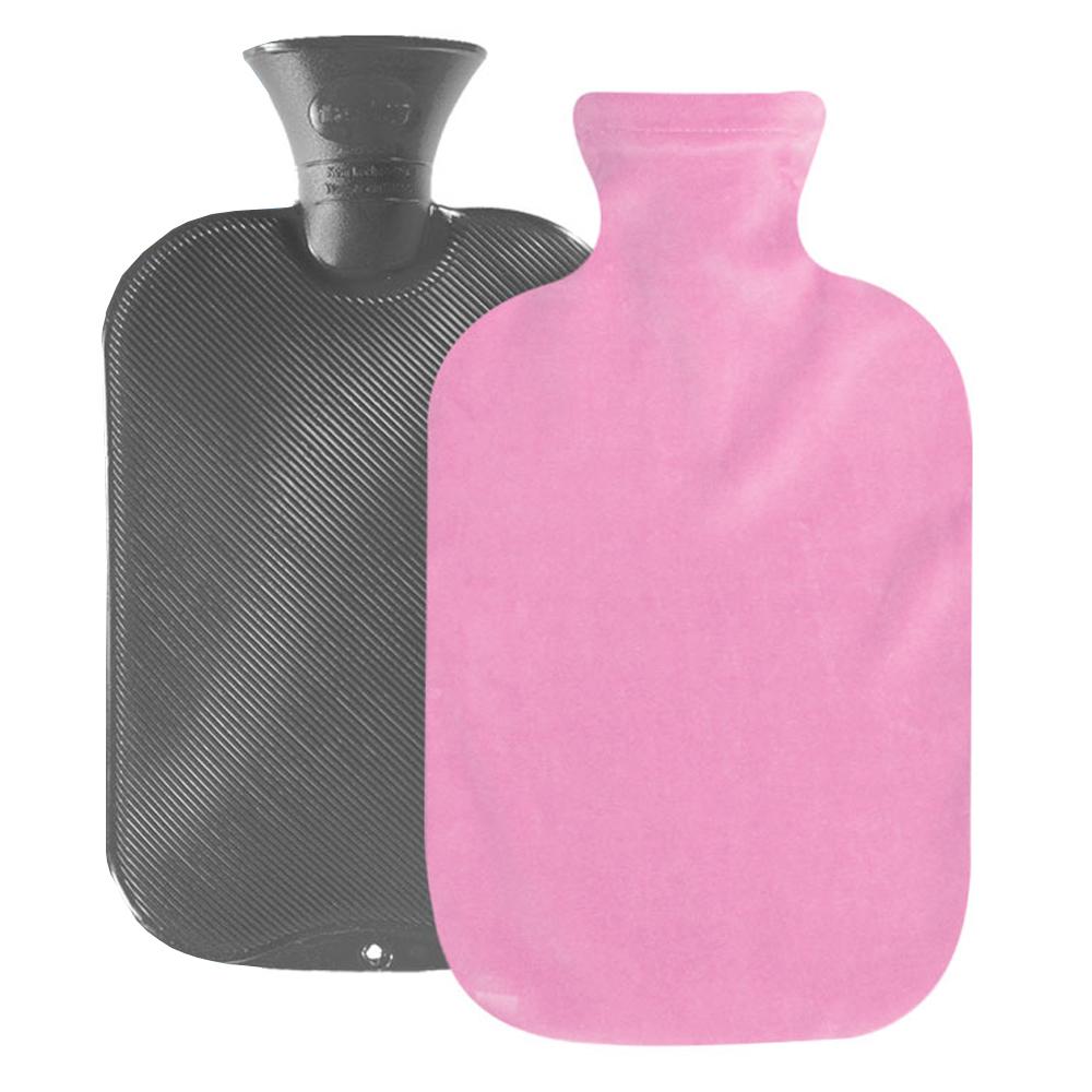 파쉬 양면빗살 핫팩 물주머니 2L 랜덤 발송 + 면스판커버 핑크, 1세트