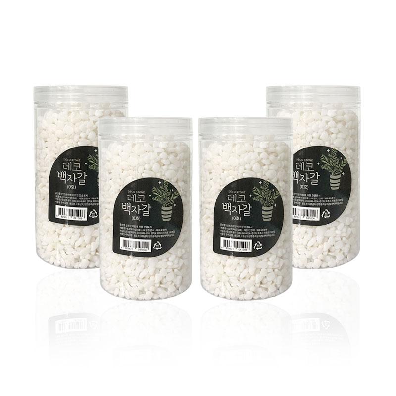 삼호유리 데코 백자갈 0호 1.2kg, 4개