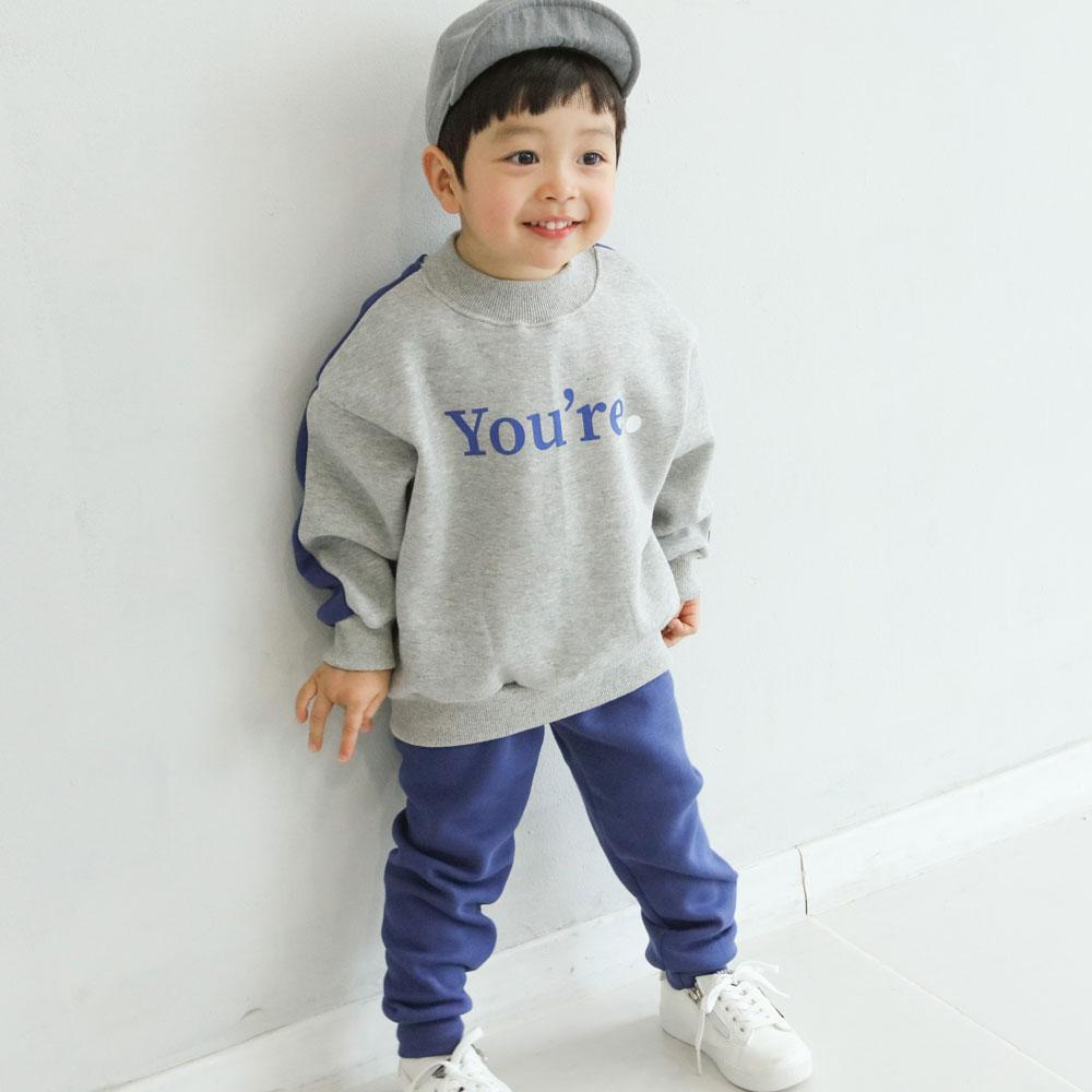 아동용 토르 기모 상하세트