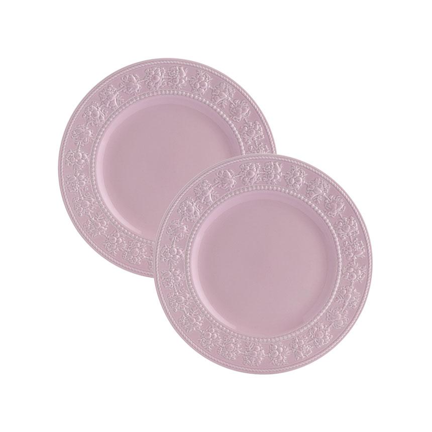 웨지우드 페스티비티 20cm 접시, 2p, 핑크 접시