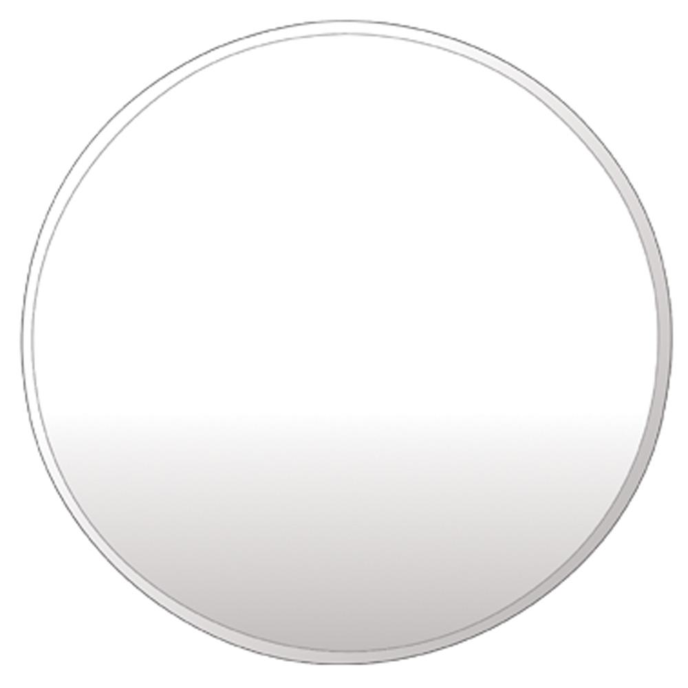 디자인 원형 거울 600 x 600 mm, 화이트