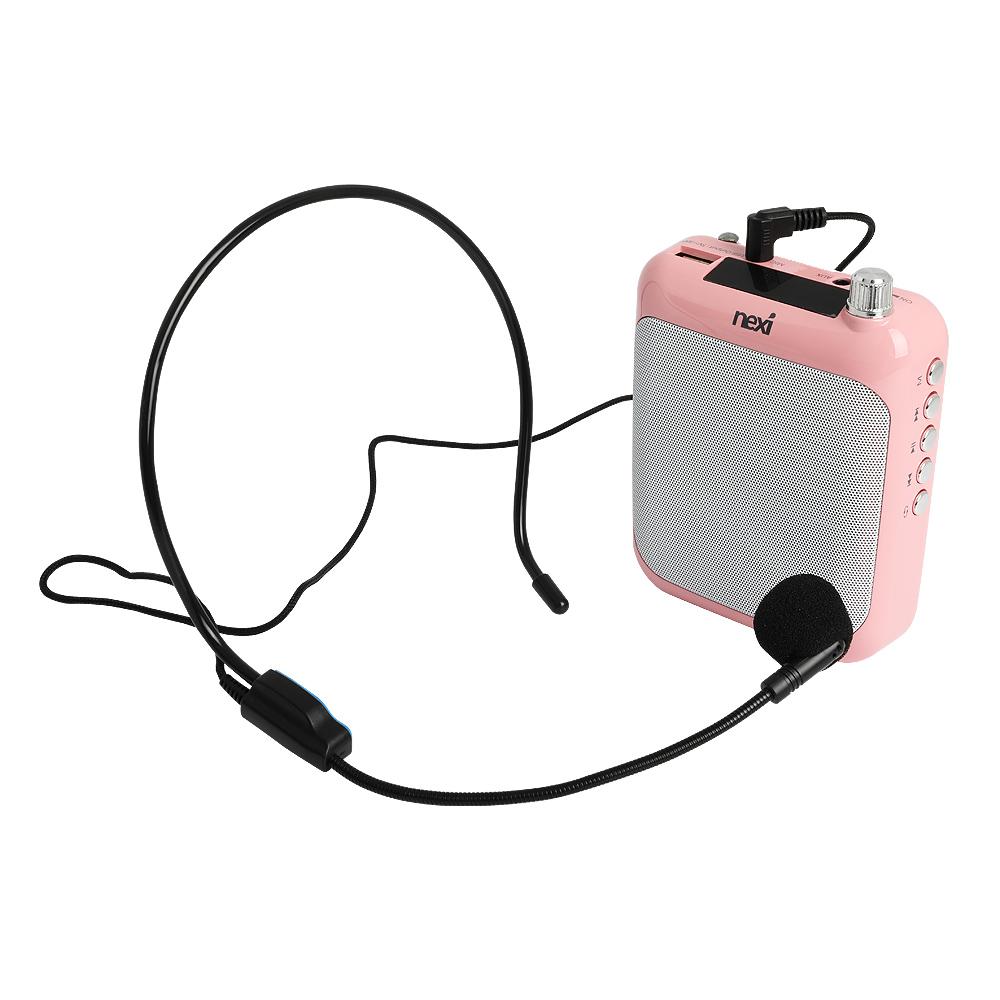 넥시 휴대용 블루투스 마이크 앰프, NX-AMPS01, 핑크
