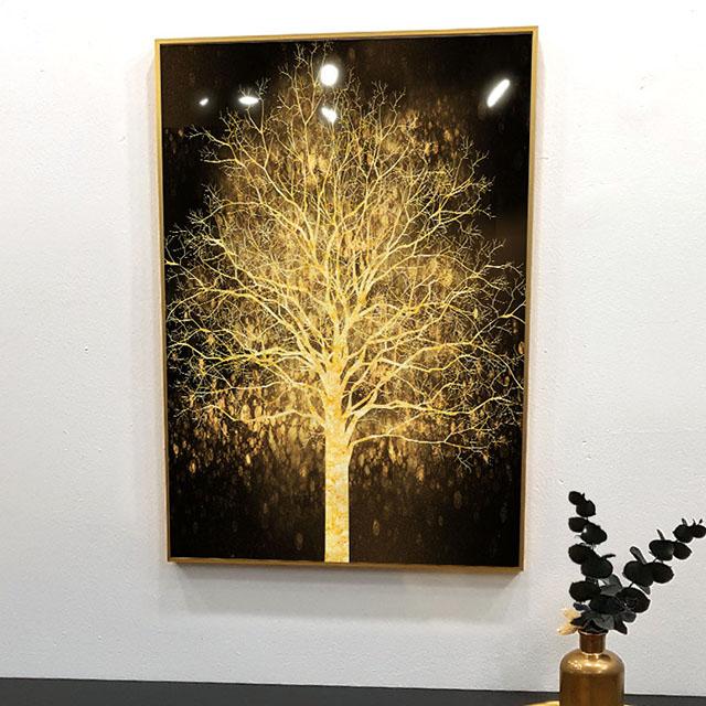 황금 나무 인테리어 액자 블랙