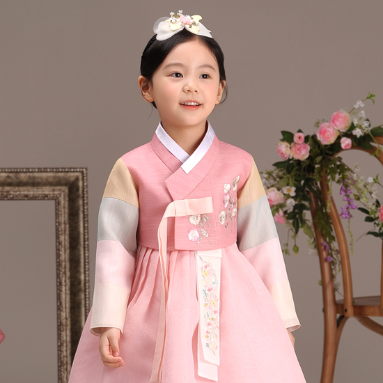 [한복] 더예한복 여아용 358 분홍슬아 한복세트 - 랭킹2위 (39000원)