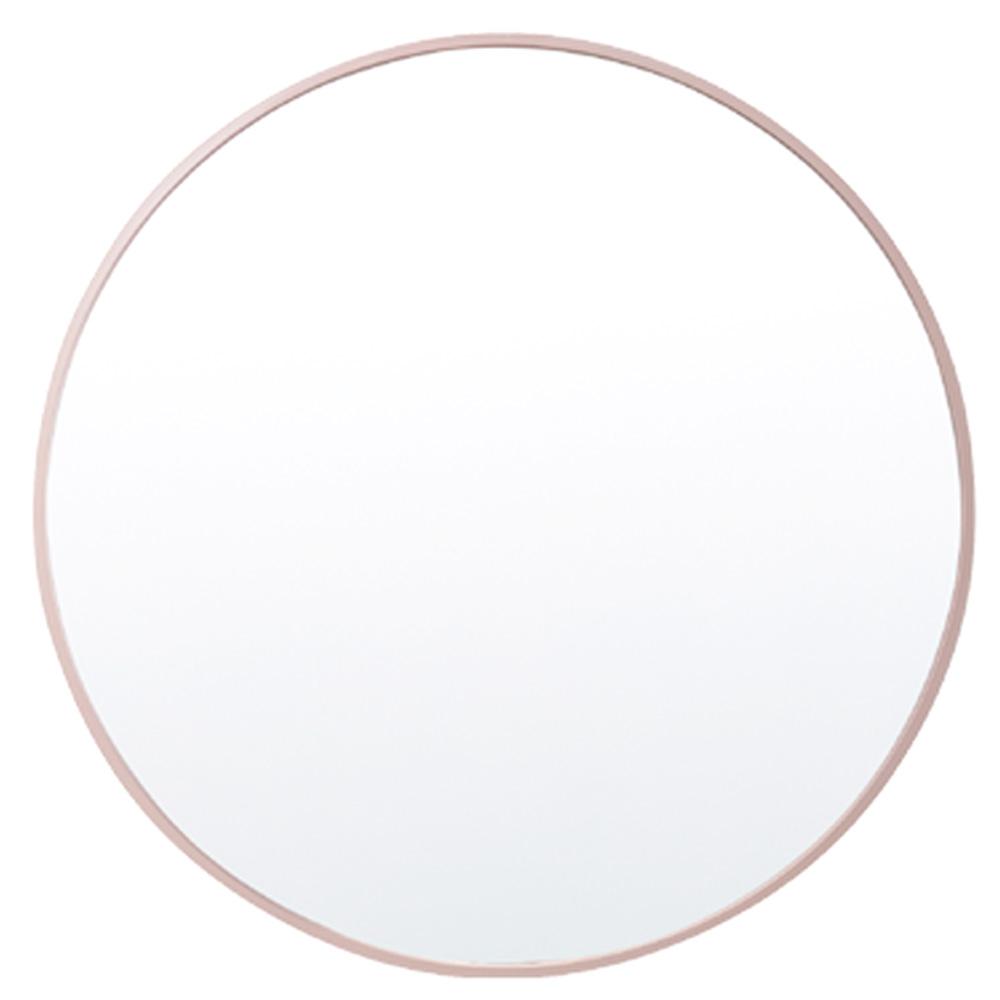 디자인 원형 거울 600 x 600 mm, 로즈골드