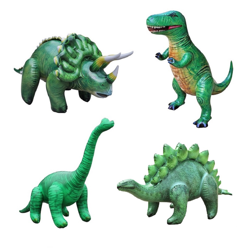 공룡기 튜브 공룡 풍선 스트브티 4종 세트, 그린, 1세트