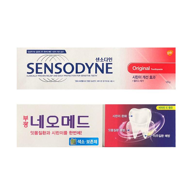 센소다인 오리지날 치약 120g + 부광약품 네오메드 시린이치약 125g, 1세트 (POP 5233421590)