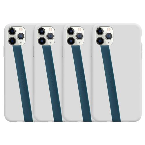 신지모루 고탄력 실리콘 휴대폰 스트랩, 블루, 4개