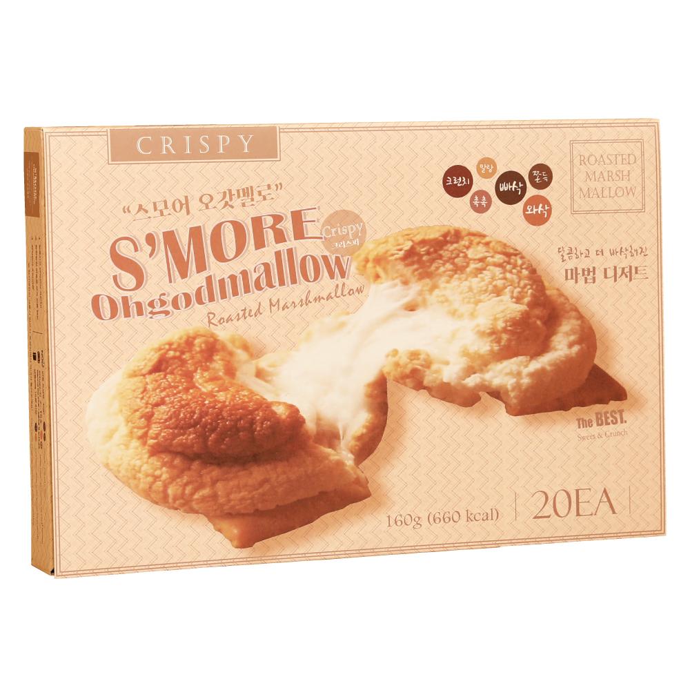 [스모어] 스모어오갓멜로 크리스피 20p, 160g, 1개 - 랭킹1위 (13540원)