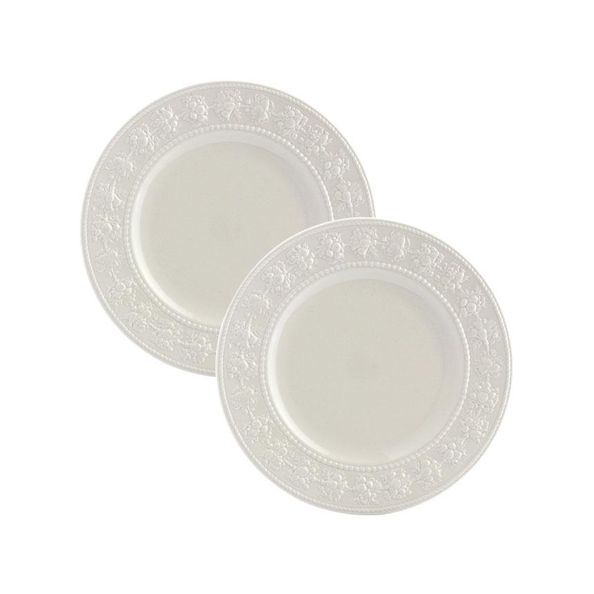 웨지우드 페스티비티 20cm 접시, 2p, 아이보리 접시