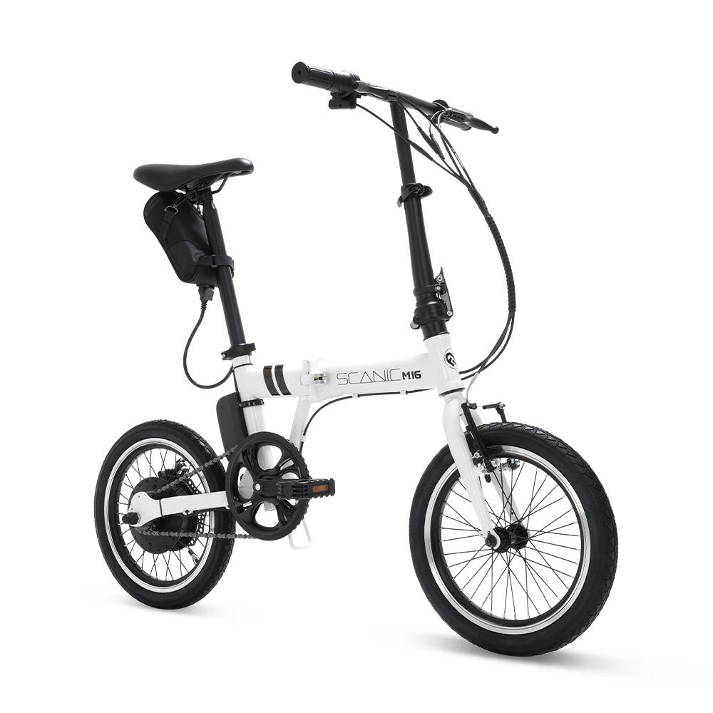 [스카닉] 에이유테크 스카닉 M16 24V 5A 접이식 미니벨로 전기자전거, 화이트, 스틸 - 랭킹4위 (399000원)