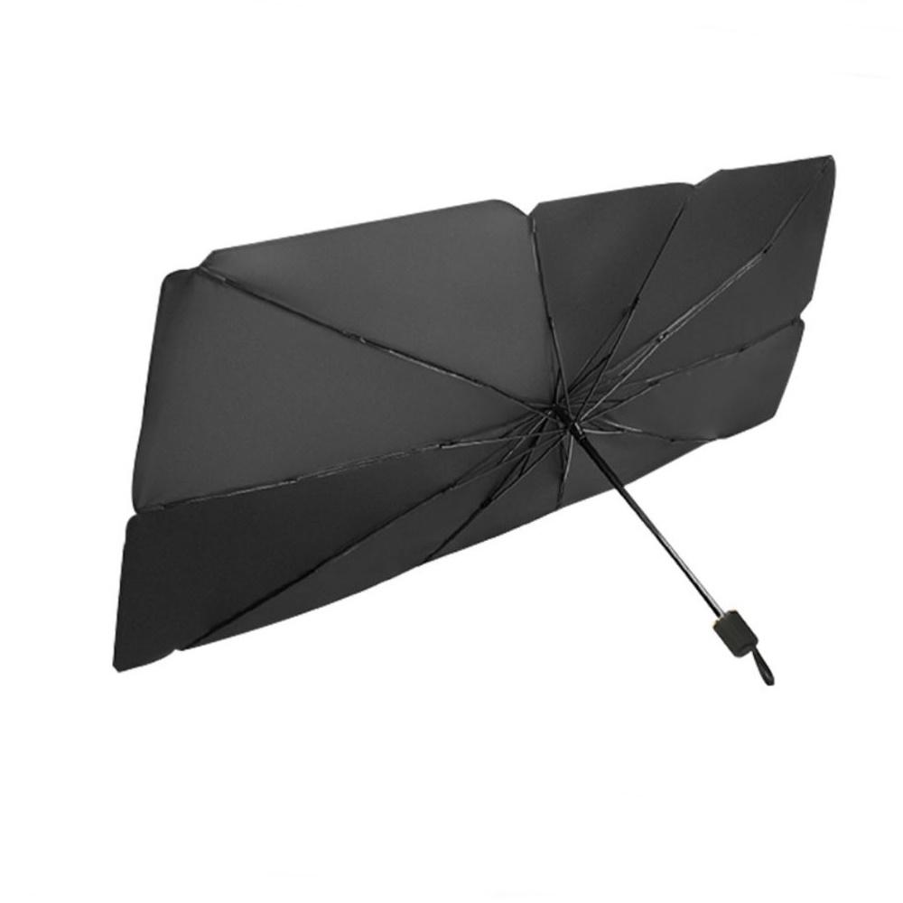 니녹스 차량용 앞유리 우산형 햇빛가리개, 블랙