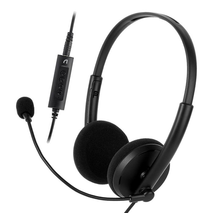 앱코 어학용 유선 헤드셋, Black, EH450-9-4897441254
