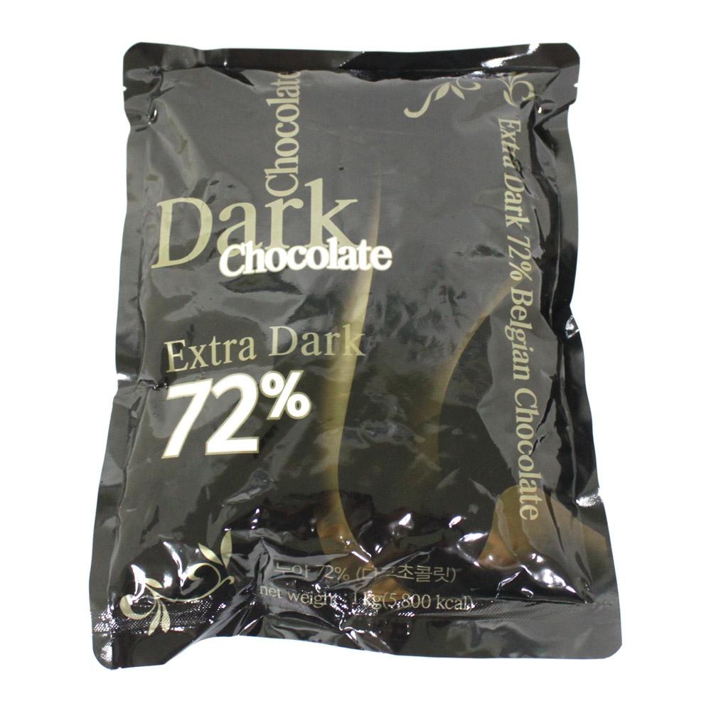 이홈베이킹 다크 커버춰 카길누아 72% 초콜릿, 1개