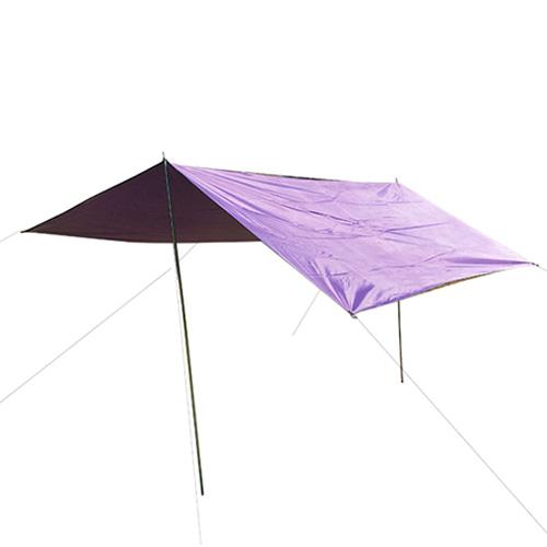 코쿼드 캠핑용 방수 실타프 특대형 + 폴대, 퍼플
