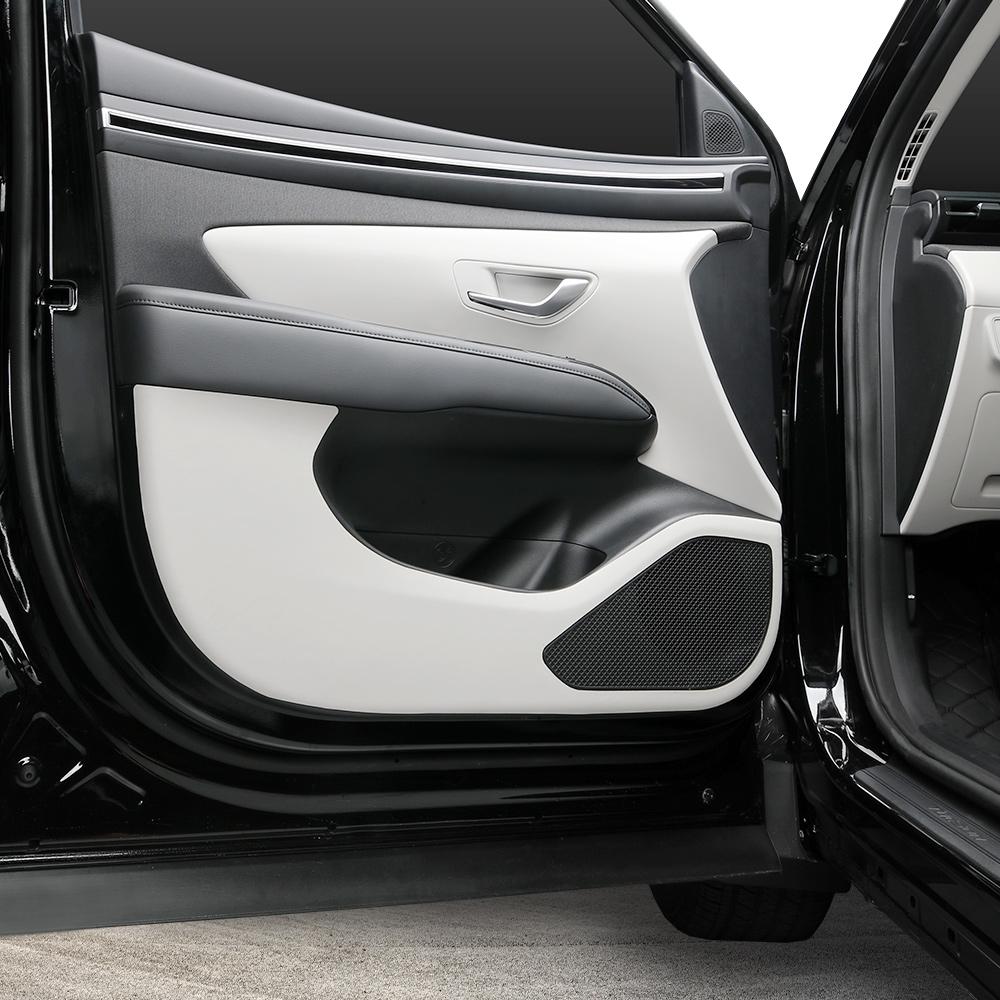 메이튼 프리미엄 튜닝 가죽 도어커버, 현대 투싼 NX4, 그레이