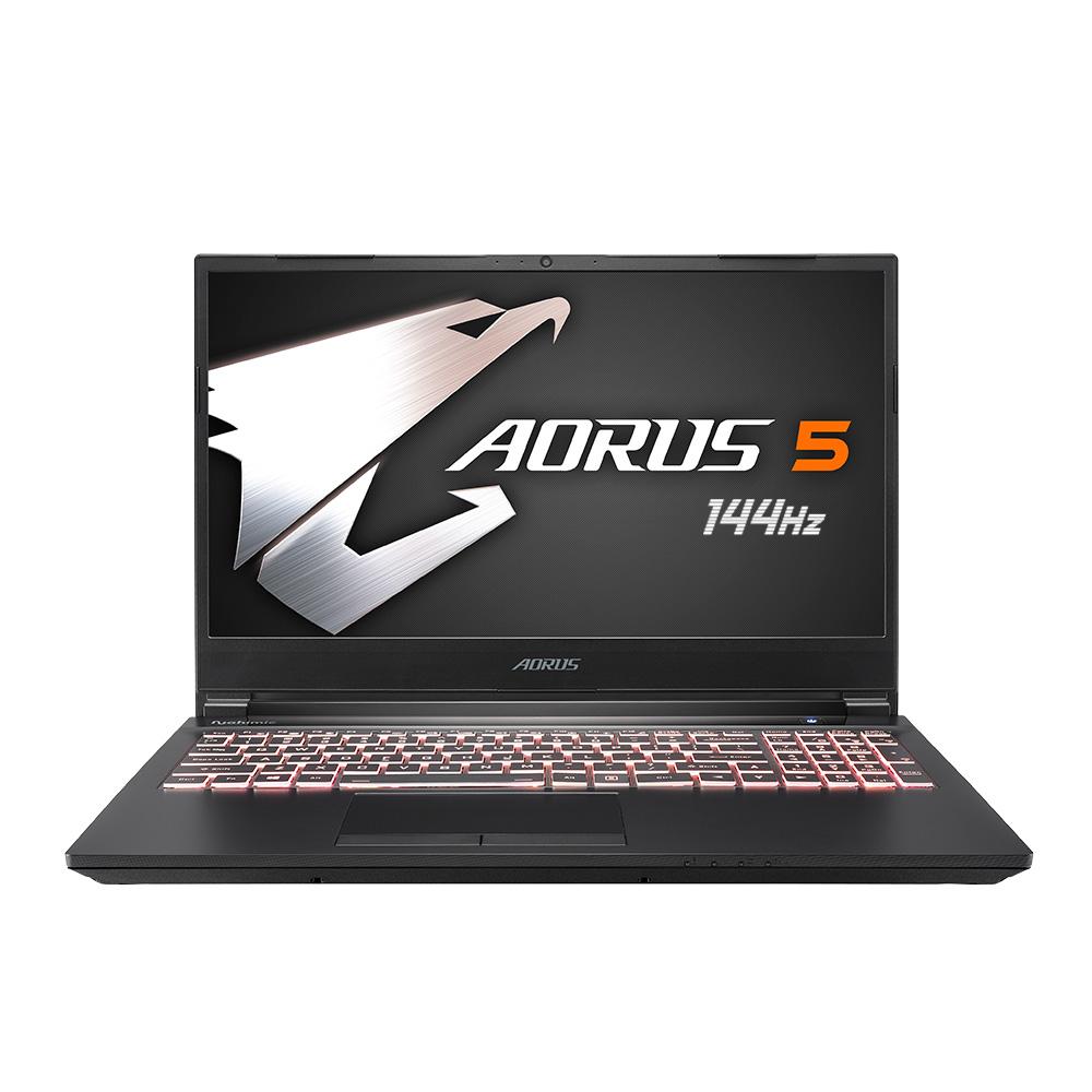 기가바이트 AORUS 5 게이밍 노트북 블랙 MB i5 E (i5-10200H 39.6cm GTX 1650Ti), 미포함, NVMe 256GB, 8GB