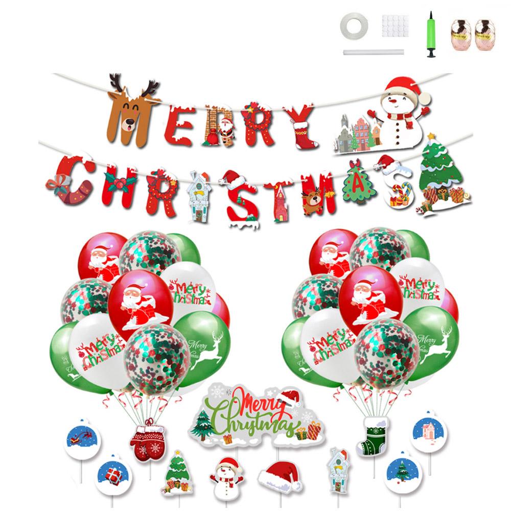 미니띠네 크리스마스 풀 파티 레인보우 컨페티 홈파티 세트, 혼합색상, 1세트